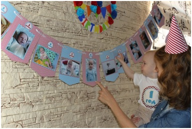 гирлянда из фотографий на 1 годик